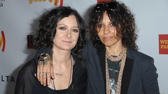 sara gilbert linda perry glaad media getty images