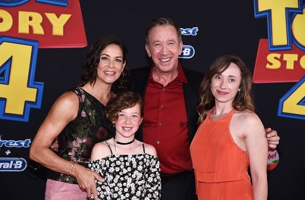 Tim Allen with entire family