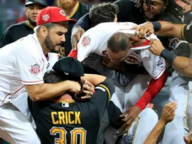 Pittsburgh Pirates, Cincinnati Reds Get Into Wild Bench-Clearing Brawl