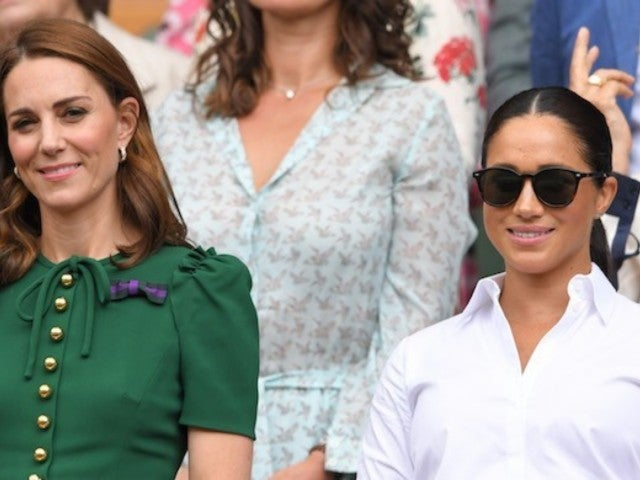Meghan Markle and Kate Middleton Step out Together to Watch Wimbledon Finals