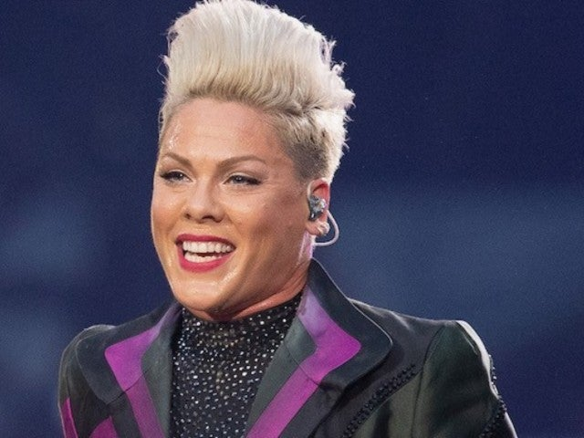Pink Goes Topless for Family Swimming Outing After Turning off Comments to Avoid Mom-Shaming
