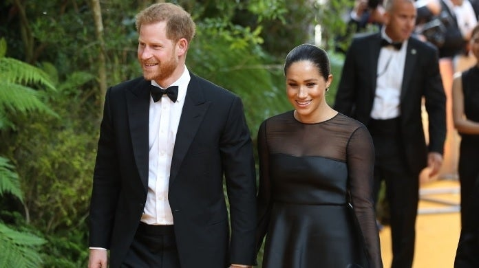 prince harry meghan markle lion king getty images