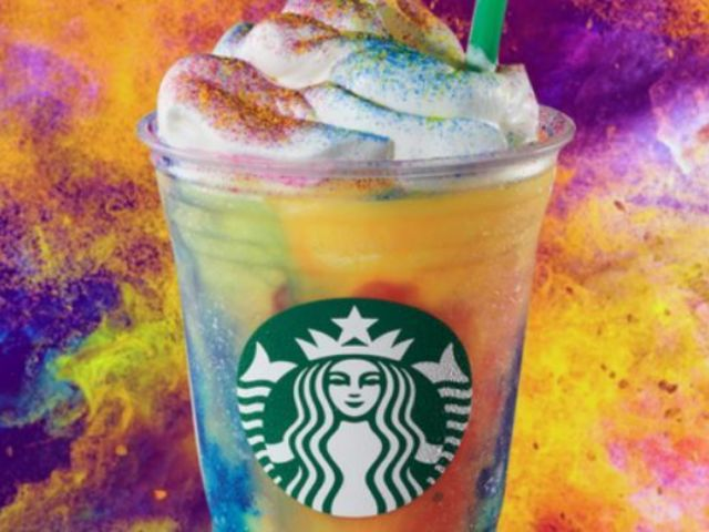 Starbucks Introduces Wild New Tie-Dye Frappuccino to Menu for Limited Time