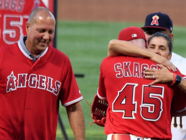 Tyler Skaggs: Los Angeles Angels Pitcher's Mother Throws First Pitch During Emotional Game