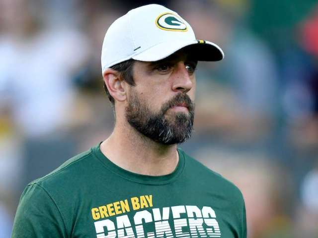 Aaron Rodgers Arrives in Canada for Preseason Game in 'Canadian Tuxedo'