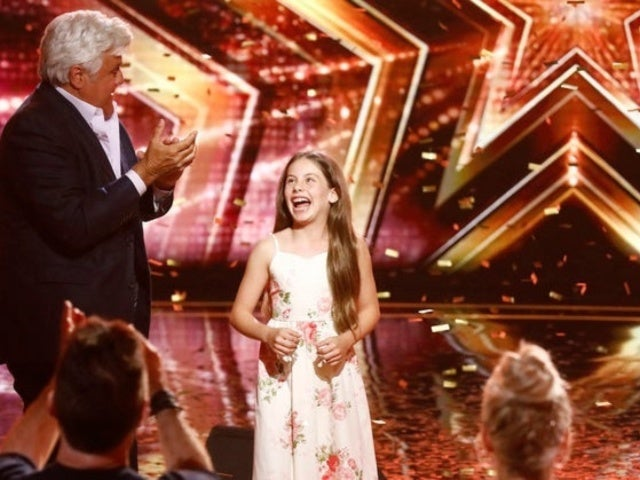 'America's Got Talent': Jay Leno Uses His Golden Buzzer on 10-Year-Old Singer Emanne Beasha