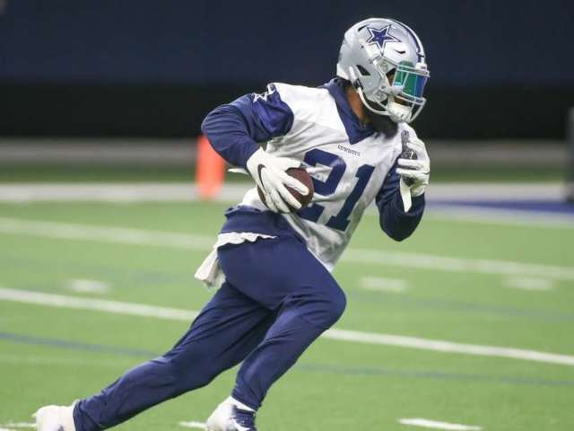 Dallas Cowboys Star Ezekiel Elliott Spotted Working out in Cabo Rainstorm Amid Contract Tensions