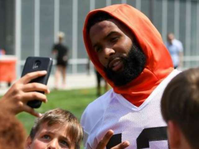 Cleveland Browns Star Odell Beckham Gifts Cleats to Young Browns Fan