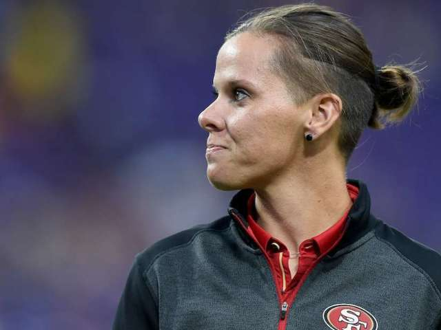 Assistant NFL Coach Katie Sowers Tells Story of One Team Saying They Weren't Ready to Hire a Woman