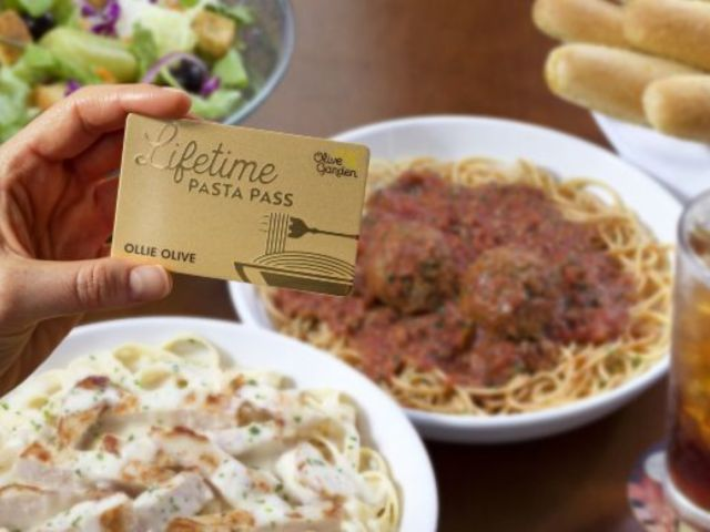 Olive Garden's Lifetime Pasta Passes Sell out Instantly
