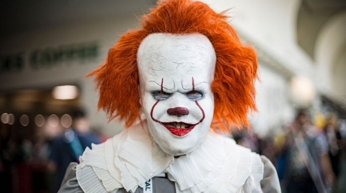 pennywise cosplayer getty images