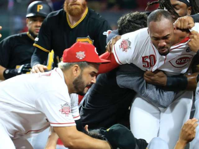 Reds Pitcher Amir Garrett Suspended 8 Games For Fighting Entire Pirates Team