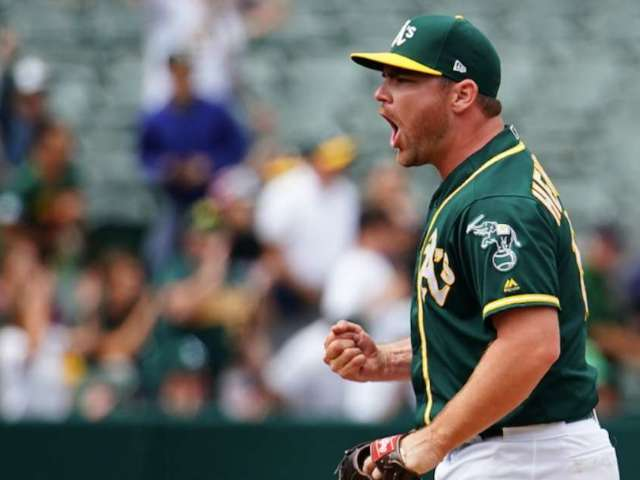 Oakland A's Sign Baseball Fan Nathan Patterson After He Throws 96 mph Fastball