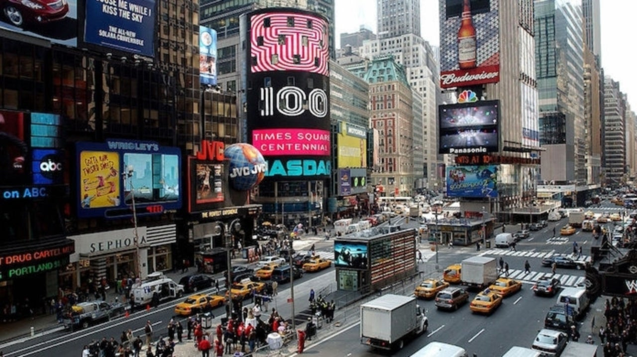 Times Square Sees Hundreds Panic as Motorcycle Backfire