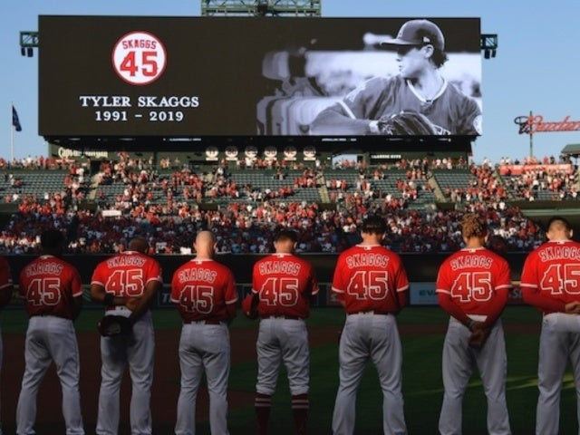 Tyler Skaggs: Los Angeles Angels Pitcher Honored by MLB in Players' Weekend Event