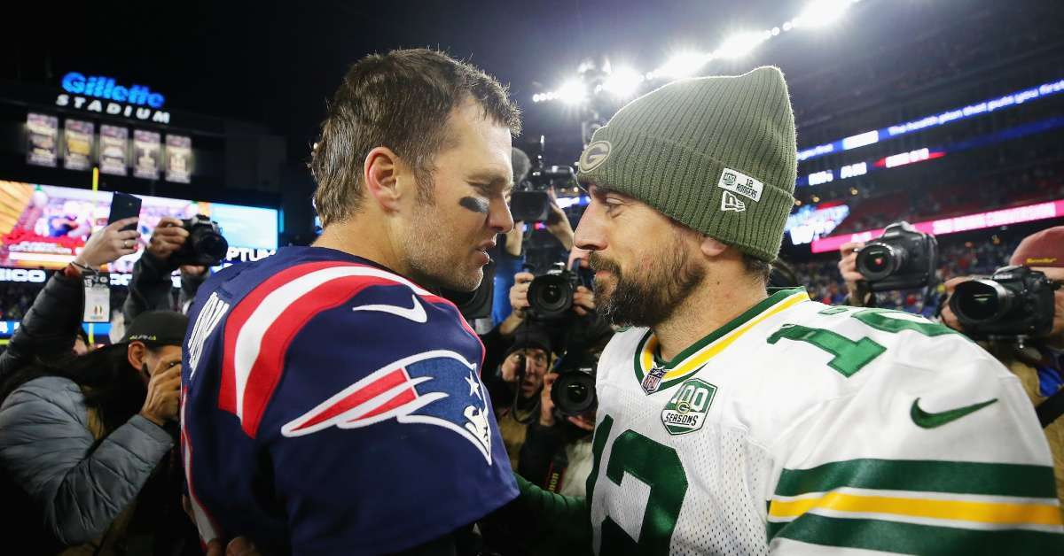Aaron Rodgers Tom Brady laugh critics