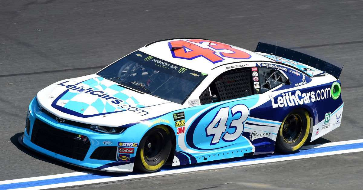 Bubba Wallace NASCAR throw drink sick driver