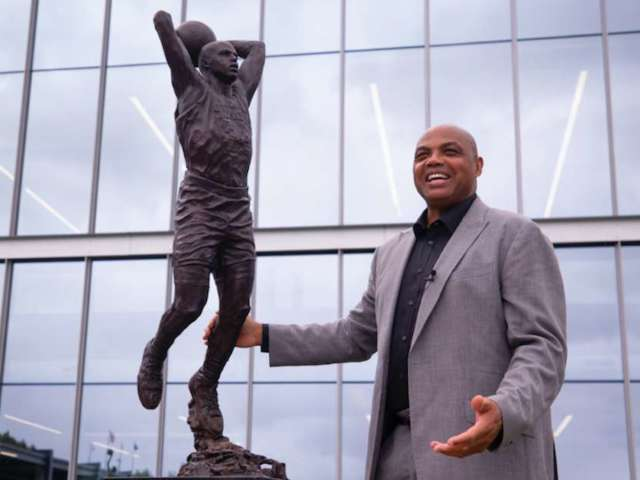 Charles Barkley Surprised by 'Skinny' Bronze Statue