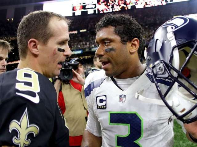 Russell Wilson Sends Message to Drew Brees After Thumb Surgery