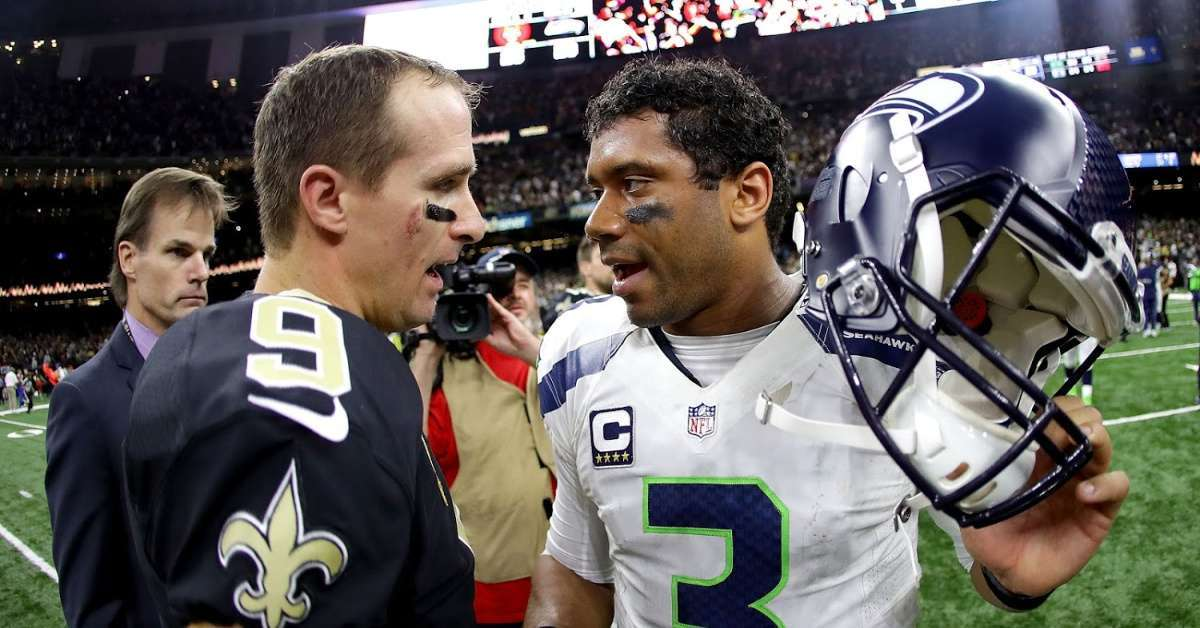 Drew Brees thumb surgery Russell Wilson message