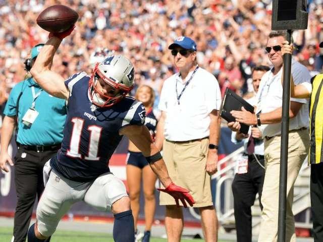 Patriots WR Julian Edelman Asks For Rating on 'Gronk Spike'