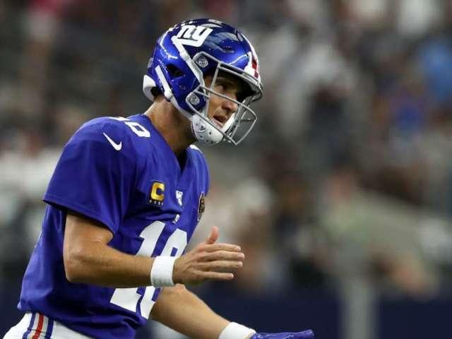 New York Giants Bench QB Eli Manning for Rookie Daniel Jones
