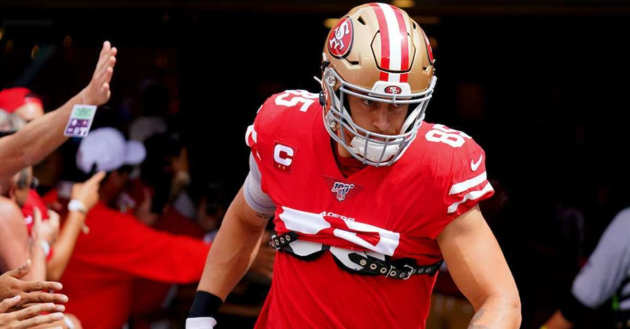 49ers Tight End George Kittle Channels Dwayne The Rock Johnson