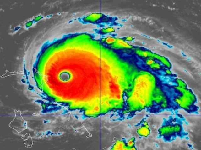 Hurricane Dorian: US Air Force Captures Vortex of Lightning, Swirling Colors in Eye of Storm