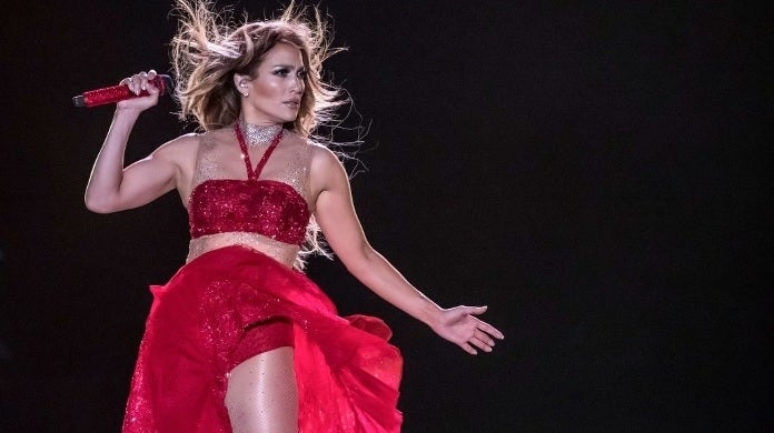 jennifer lopez performing getty images