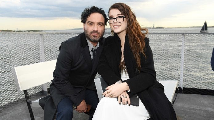 Johnny Galecki and Alaina Meyer-2