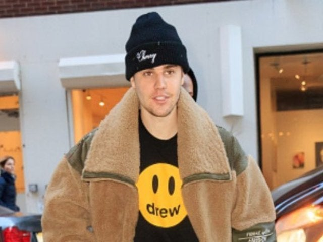 Justin Bieber Reveals Sparkling Purple Grill in New Photo