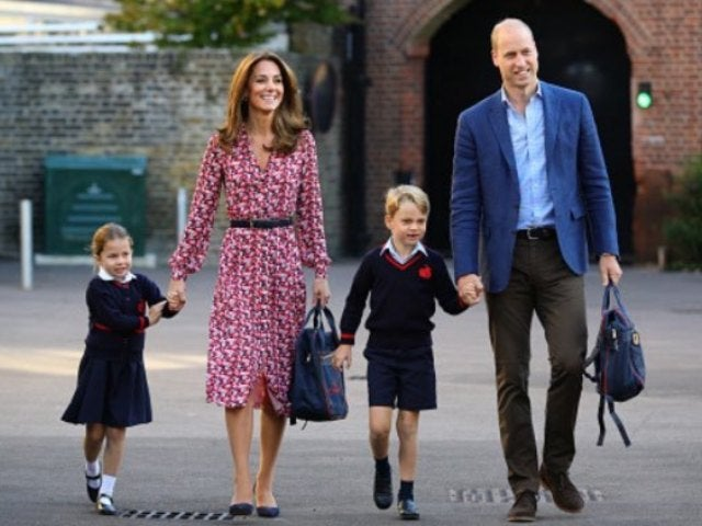 Kate Middleton Channels Princess Diana's Look During Princess Charlotte's First Day of School