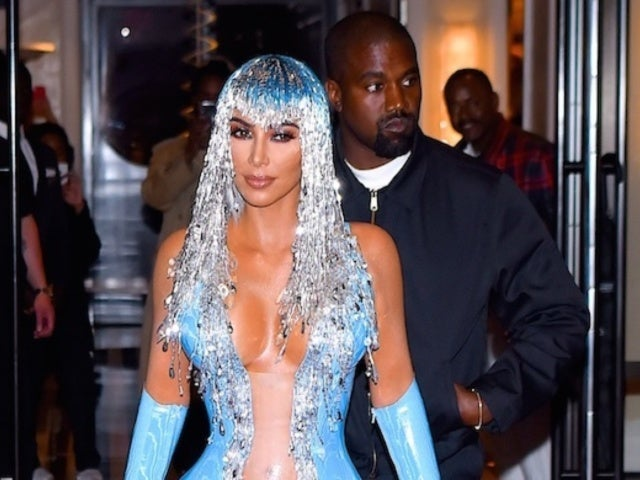 See Kim Kardashian's Wild Blue Latex Dress Again for the Met Gala in 'KUWTK' Clip
