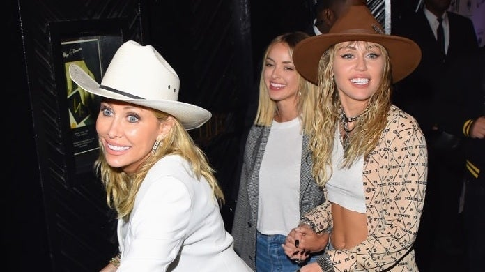 miley cyrus tish kaitlynn carter getty images
