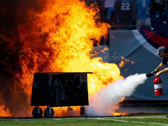 NFL Prohibits On-Field Pyrotechnics After Fire at Titans Nissan Stadium