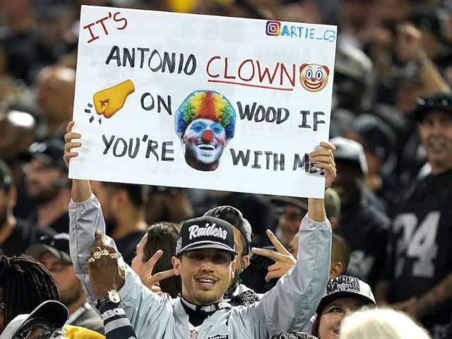 Raiders Fans Celebrate Regular Season by Burning Antonio Brown Jerseys