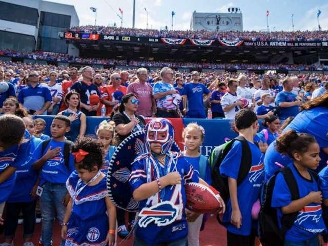 Buffalo Bills Celebrate Superfan 'Pancho Billa' at Home Opener