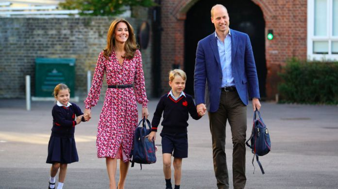 prince-williams-kate-middleton-prince-george-princess-charlotte-first-day-school