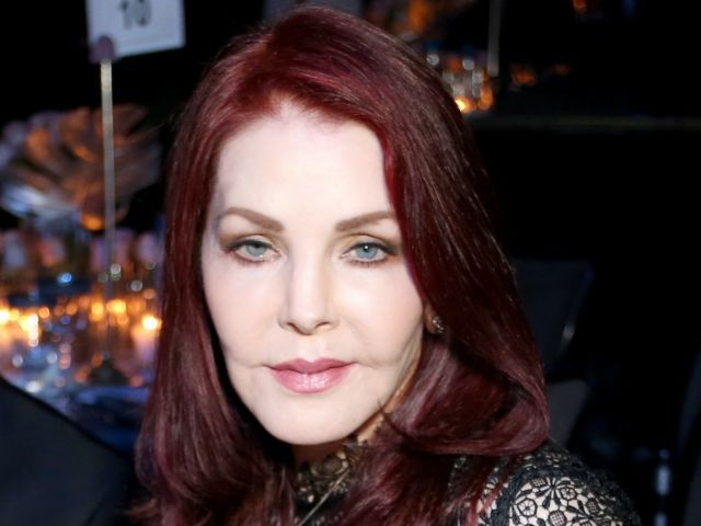 Priscilla Presley Sports Face Mask While Sporting All Black Look During Outing