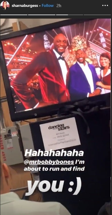 sharna burgess dwts premiere instagram story