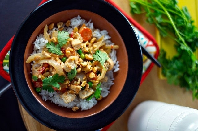 slow cooker thai chicken and rice