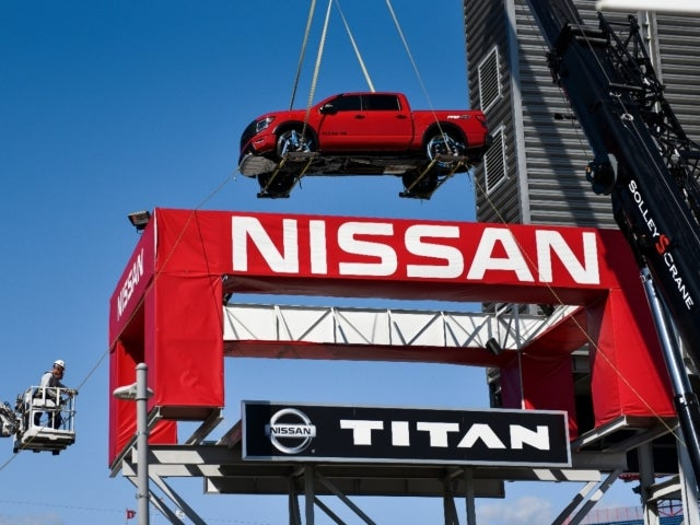 Watch Truck Get Craned to Top of Nissan Stadium in Stunning Time Lapse