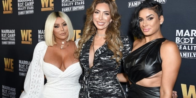 Aubrey O'Day Looks 'Unrecognizable' Alongside Farrah Abraham at 'Marriage Boot Camp' Premiere.
