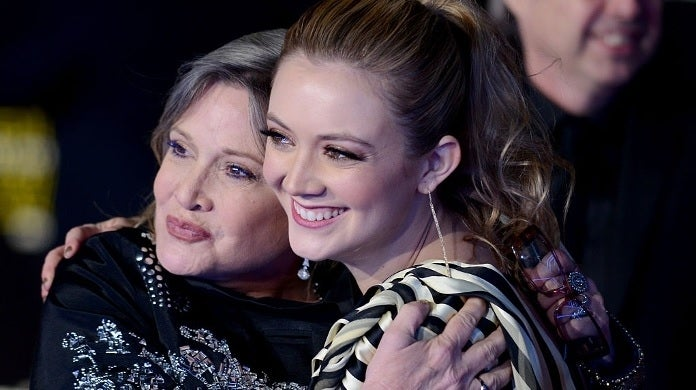 billie lourd carrie fisher getty images