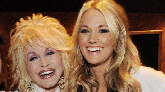 carrie underwood dolly parton getty images