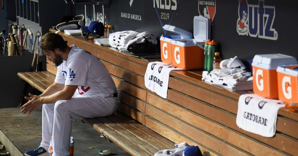 Clayton Kershaw dodgers fans jersy run over playoff loss
