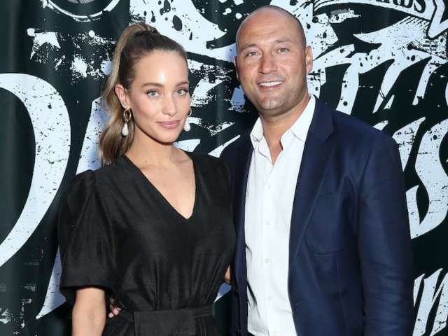 Hannah Jeter Stuns in Black Dress Standing With Husband Derek During Foundation Dinner
