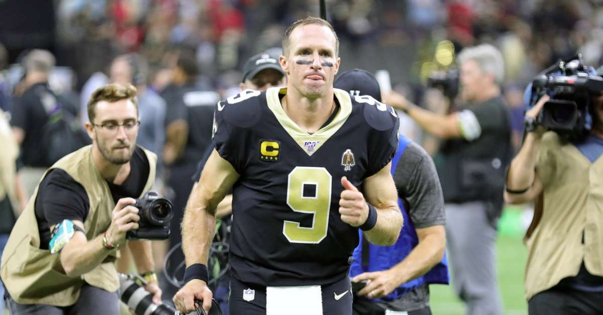 Drew Brees New Orleans Saints performance proud without him