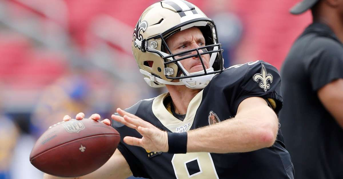 Drew Brees New Orleans Saints throw football thumb surgery