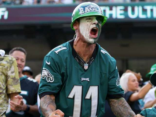 Eagles Fan Fights Back Tears While Wearing 'Flapping Wings' Hat